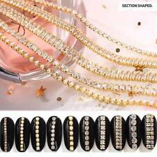 3D Gold Metal Chain Nail Art Decor Metal Chain Nail Accessories DIY Rhinestones