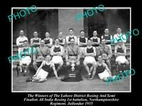 OLD 6X4 HISTORIC MILITARY PHOTO OF NORTHAMPTONSHIRE REGIMENT BOXING CHAMPS 1935