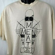 Vintage 80s Meatmen T Shirt XL White Crew Neck Freud Was Wrong Touch and Go