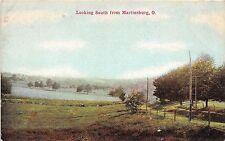 Ohio Postcard 1913 MARTINSBURG Looking South Road Mt Vernon Knox CO