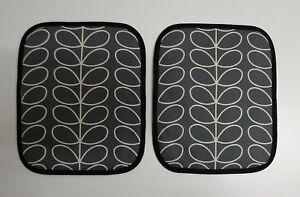 Pair of Rayburn Hob Covers. Orla Kiely grey stem.(PROVIDE MEASUREMENTS)