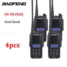 4PCS Baofeng UV-9R Plus IP67 Waterproof Dual Band 10W 128CH VHF/UHF CTCSS DCS FM