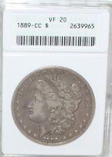 1889-CC Carson City Morgan Silver Dollar - ANACS VF 20