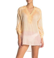 Pool To Party Sheer Cover Up NWT Small Medium Modal Hooded