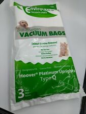 Envirocare HEPA Style vacuum bags Type Q Hoover Upright Qty 3 NEW