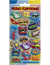 Paper projects Foam SUPER HERO Captions reusable foil Craft stickers age 3 +