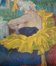 Vintage Orig Toulouse Lautrec The Clownesse Post Impressionism Lithograph #S189