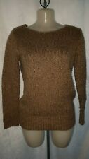 H & M Divided - Brown Gold Sparkle Long Sleeve Chunky Knit Jumper - Size 6/ 34
