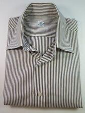 Luigi Borrelli Napoli 100% Cotton Striped Dress Shirt Euro 41 Large 16 Italy