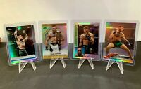 2018-19 Topps Chrome UFC Conor McGregor REFRACTOR Lot (4) Octagon 84' Variation
