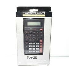 TI Texas Instruments BA-35 Business Calculator 1989 Original Box / Instructions