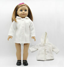 "Doll Clothes Doll Clothes fits 18"" American Girl Handmade white  Casual Wear"