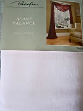 White Georgette Window Scarf 50x216 Springs Pacific Springmaid Valance New 1~>3