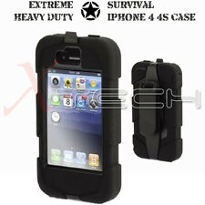 iPhone 4 4S Military Tough Survival Hard Rugged HEAVY DUTY Shock Protective Case