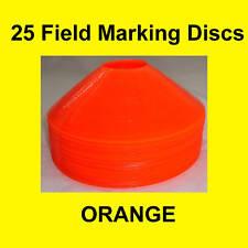 25 ORANGE FIELD MARKER DISCS CONES SOCCER BASKETBALL FOOTBALL