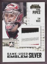 2009 10 ITG M-44 BETWEEN THE PIPES CAM WARD GAME USED JERSEY EMBLEM SILVER 1/6