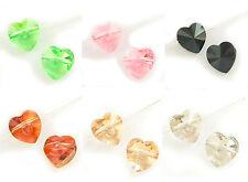 SWAROVSKI CRYSTAL Element 5742 Heart  Bead Variable Color / Size