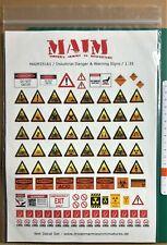 MAIM 35161 - INDUSTRIAL DANGER & WARNING SIGNS - 1/35 DECALS