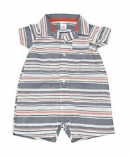 Carter's Baby Boy Size 9 Months Striped Short Sleeve Romper, Multi-Colored