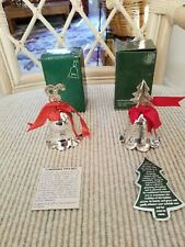 International Silver Company Silver plated Bells, never used, 2.5 inches tall.