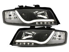 Coppia fari fanali anteriori Daylight LED DRL Audi A4 8E 01-04 Nero