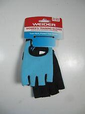 Weider Women's Training Gloves- Weight Lifting- Blue Black L/XL