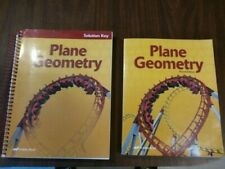 A Beka Plane Geometry text with solution key Second Edition