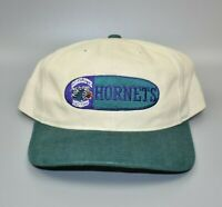 Charlotte Hornets Twins Enterprise Vintage 90s Oval Spell Out Strapback Cap Hat