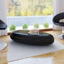 Vidaxl Tavolino da Caffè in Fibra di Vetro Nero lucido