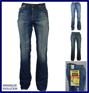 jeans pantaloni wrangler da uomo gamba dritta bootcut a zampa 44 46 w28 w29 w32