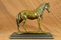Art Deco Sculpture Elegant Horse Walking Bronze Statue Home Decoration Lost Wax