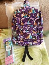 Loungefly Disney Jasmine & Raja Floral Backpack WDBK0666 & Jasmine Wetbrush, NWT