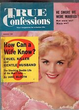MARCH 1960 TRUE CONFESSIONS MAGAZINE-ROMANCE-STORY-VINTAGE ADS-RARE