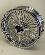 DNA MAMMOTH FAT 52 SPOKE 18x5.5 CHROME REAR WHEEL HARLEY 200 TIRE SOFTAIL DYNA