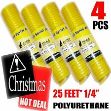 4 PCS PAKA TOOLS  Recoil Polyurethane (PU) Air Hose - 1/4-Inch by 25-Feet
