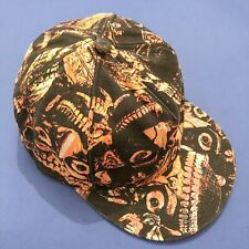 KTZ Kokon To Zai Orange/Black/White Skull Scary Face Baseball Cap RRP: £145