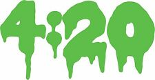 4:20 Sticker Decal Vinyl Transfer - Weed Pot Sticker for Car Window Water Pipe