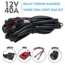 12V Relay Wiring Harness Work Fog Light Bar Kit ON/OFF Switch Led Spotlight 40A