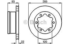 BOSCH Juego de 2 discos freno 285mm ventilado VOLKSWAGEN LT 0 986 478 555
