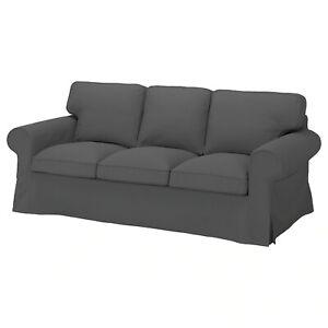 Ikea cover set for Ektorp 3-Seater Sofa in Hallarp Grey  005.035.72