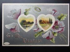 LOVE Poppy Postcard: TO MY DEAREST c1903 Old Postcard by Davidson's Bros U.S.