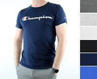 Champion Mens T-Shirt Crew Neck, Short Sleeve Tee Shirt Top with Logo