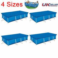 More details for outdoor garden rectangular swimming pool cover tarpaulin for intex bestway frame