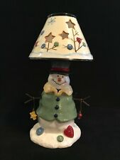 Christmas Ceramic Snowman Tealight Candle holder Collectible Novelty Decorative