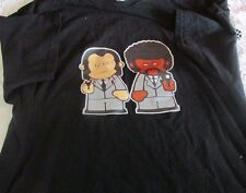 Pulp Fiction Cartoon Characters Jules Winnfield Vincent Vega T shirt XL Black