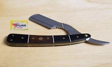 Buffalo Horn Cut Throat Straight Razor Beard Shaving Folding Knife with Blades