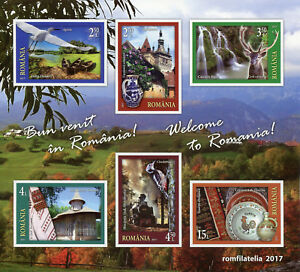 Romania 2017 MNH Welcome Tourism Landscapes 6v Imperf M/S Birds Stamps