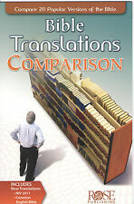 BIBLE TRANSLATIONS COMPARISON Pamphlet Christian Study Aid