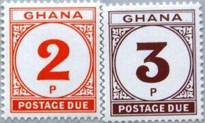 GHANA 1980 Portomarken 24-25 Postage Due J21-J22 new currency MNH