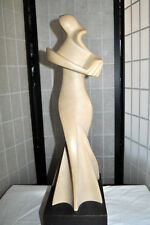 FINE Cubist Abstract Sculpture of Woman by J. Martinek Well-known Listed Artist